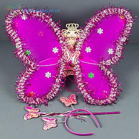 Набір карнавальний крила метелика малинові