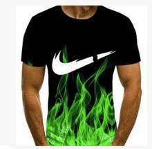 Яркая Летняя футболка 3D размера XXL 3D прилив эффект притягивает взгляды большой рисунок
