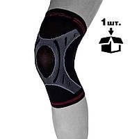 Наколінник спортивний OPROtec Knee Sleeve TEC5736-LG L Чорний, фото 1