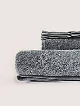 Махровая простынь-покрывало серого цвета 155х220, фото 2