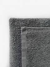 Махровая простынь-покрывало серого цвета 155х220, фото 3