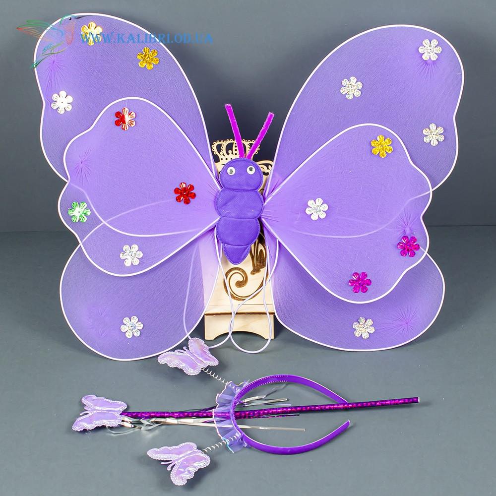 Набір карнавальний крила феї фіолетові