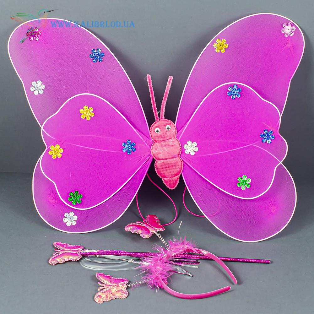 Набір карнавальний крила феї малинові