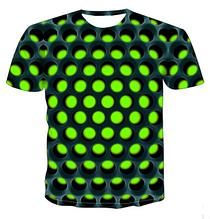 Яркая Летняя футболка 3D XL  размера  Green 3d эффект притягивает взгляды!