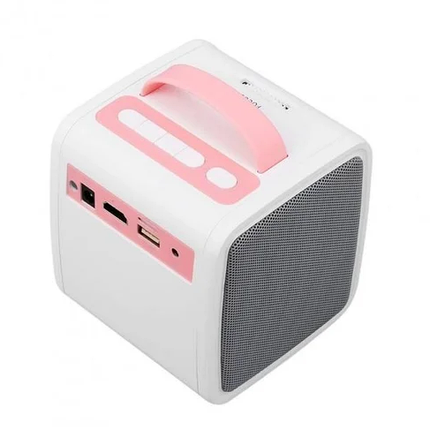 Детский мини проектор KIDS Q2 Бело-Розовый, фото 2