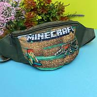 Детская сумка на пояс бананка для мальчика майнкрафт (Minecraft), фото 1