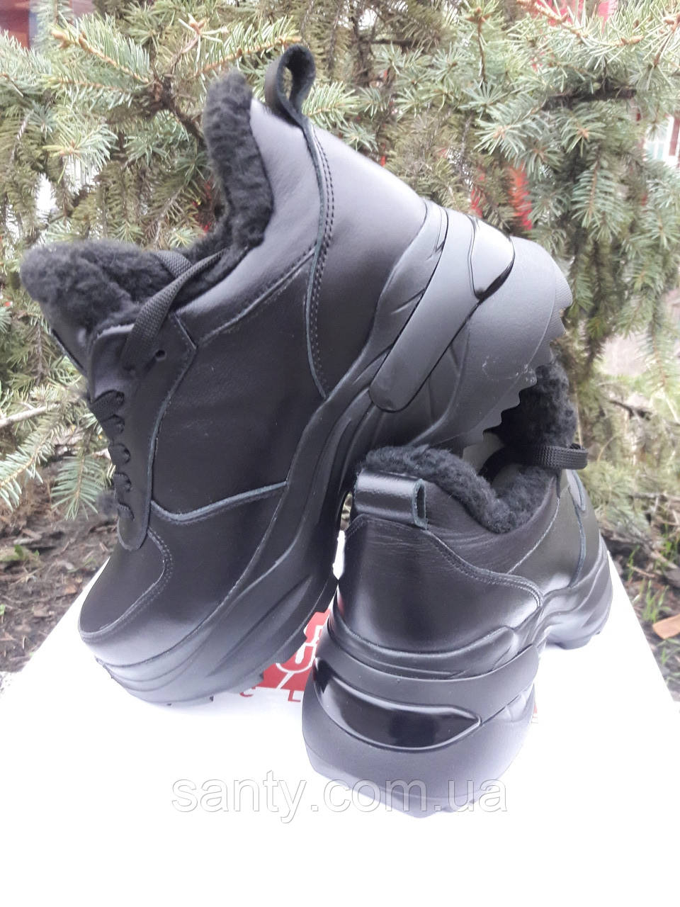 Женские зимние кроссовки из натуральной кожи. Жіночі зимові кросівки.