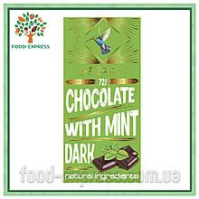 Шоколад чорний 72% з м'ятою, 90г