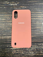 "Чехол Silicon Samsung A01 - ""Нежно-розовый №12"""