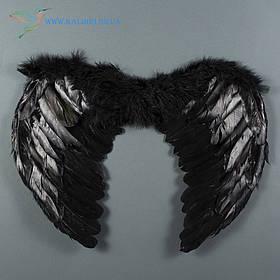 Крила ангела білі пір'яні 35*45 чорні