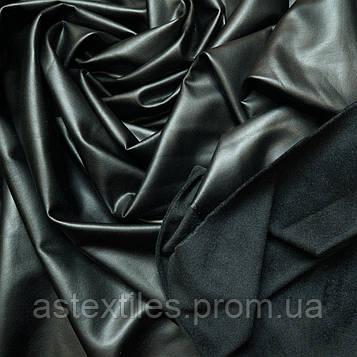 Кожзам на флісі (чорний)