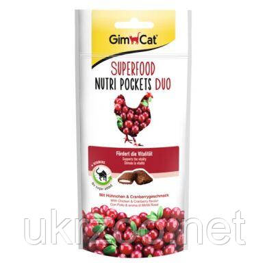 Лакомство для кошек GimCat Superfood Nutri Pockets Duo 60 г (курица) 418698