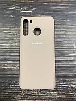 """Чехол Silicon Samsung A21 - """"Пудра №19"""""""