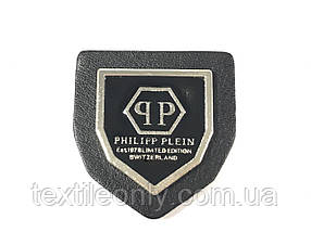 Нашивка philipp plein колір нікель 30х33 мм