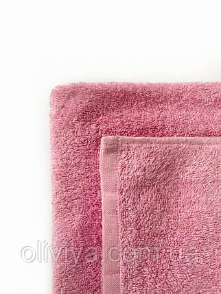 Простынь махровая хлопок розового цвета 190х220, фото 2