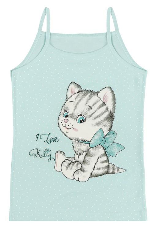 """Майка дитяча для дівчинки """"Kitty"""", 8-9 років (ріст 134-140)"""
