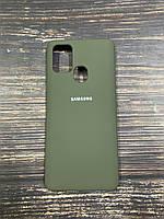 "Чехол Silicon Samsung A21S - ""Темная олива №34"""