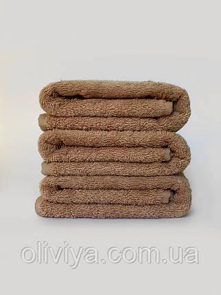 Простирадло махрова бавовна бежевого кольору 190х220, фото 2
