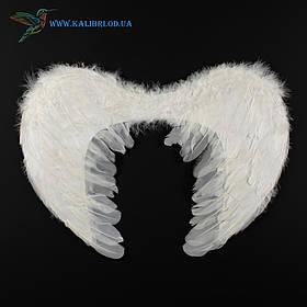 Крила ангела білі пір'яні 40*55 білі