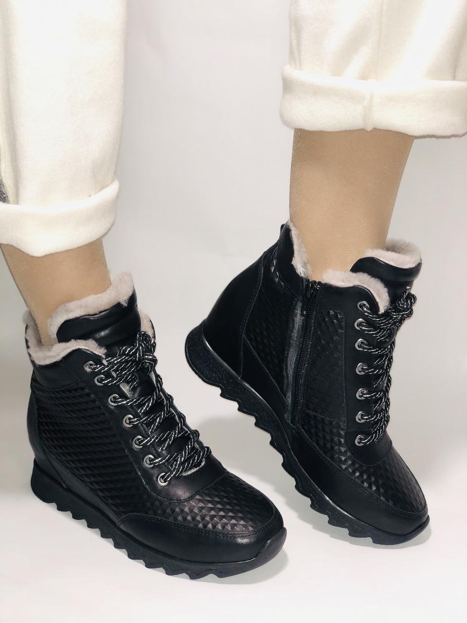 Alpino.Туреччина. Зимові черевики-кросівки на натуральному хутрі, Натуральна шкіра. 37, 38,39