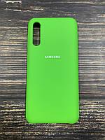 """Чехол Samsung A50S №31 """"Лайм"""" Silicon Case"""