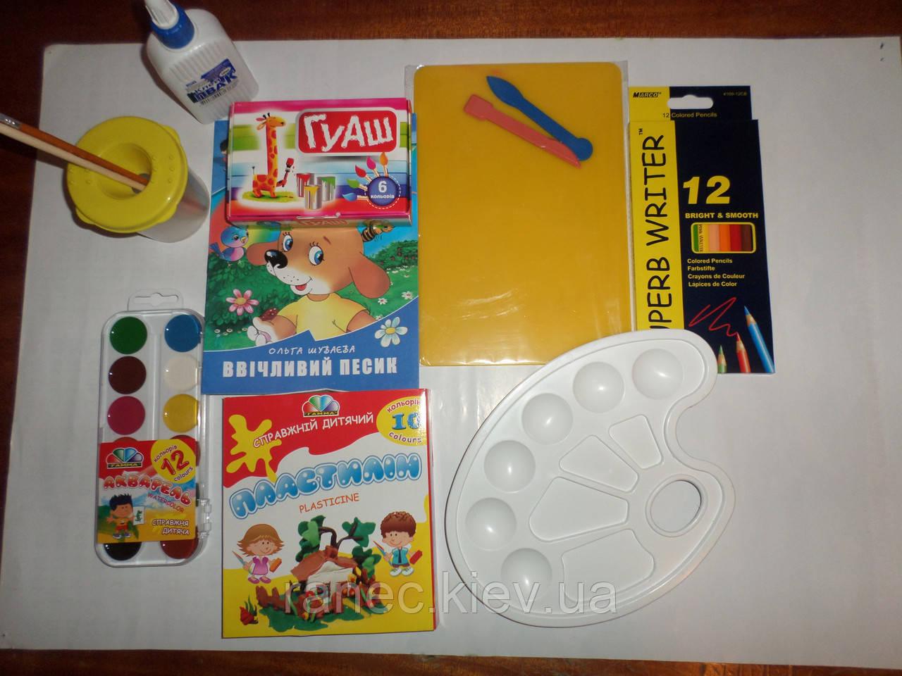 Набор канцтоваров для детского садика.Эконом вариант KOMPSAD