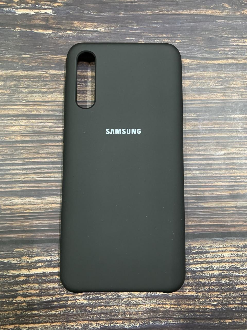 "Чехол Silicon Samsung A50S - ""Черный №18"""