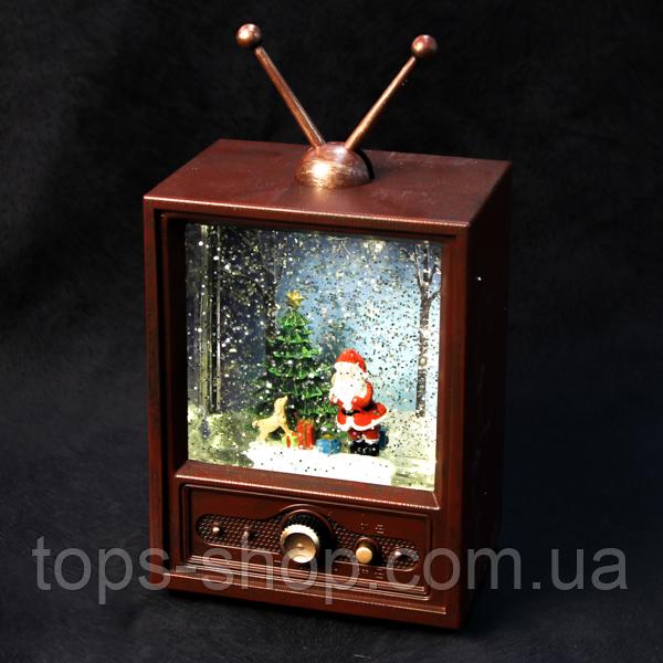 Новорічний нічник, з ефектом падаючий сніг, декоративна лампа ліхтаря, телевізор зі снігом