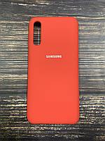 "Чехол Silicon Samsung A50S - ""Темно-терракотовый №14"""