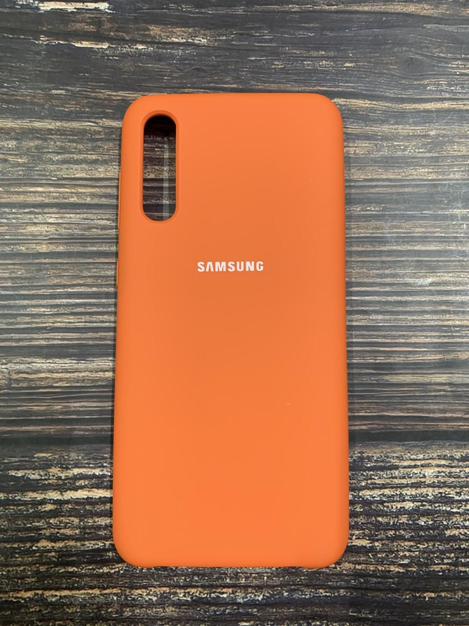 """Чехол Samsung A50S №13 """"Оранжевое настроение"""" Silicon Case"""