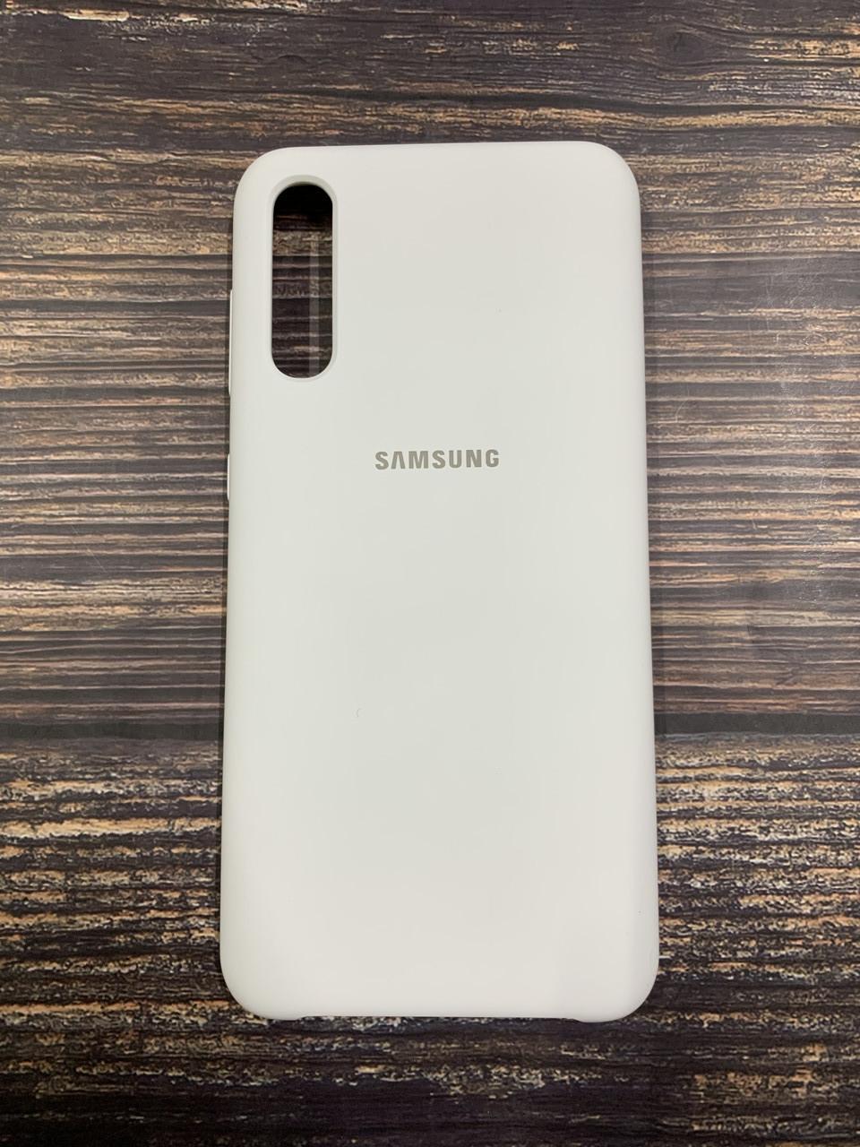 "Чехол Silicon Samsung A50S - ""Белый №9"""