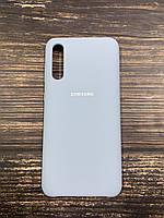 """Чехол Silicon Samsung A50S - """"Кремово-лиловый №5"""""""