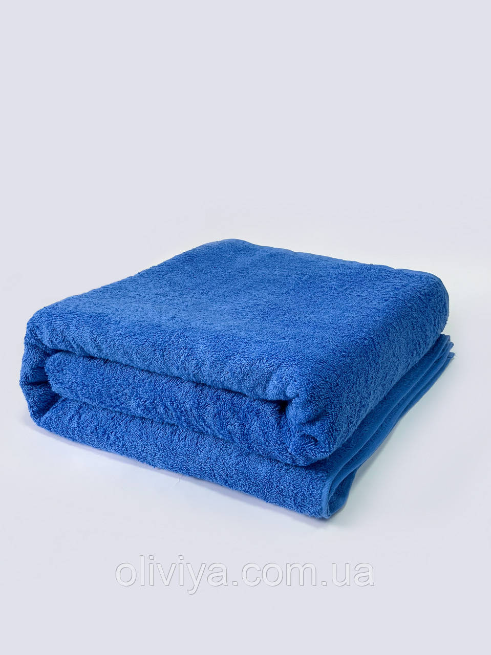 Массажное полотенце синего цвета (электрик) 100х180