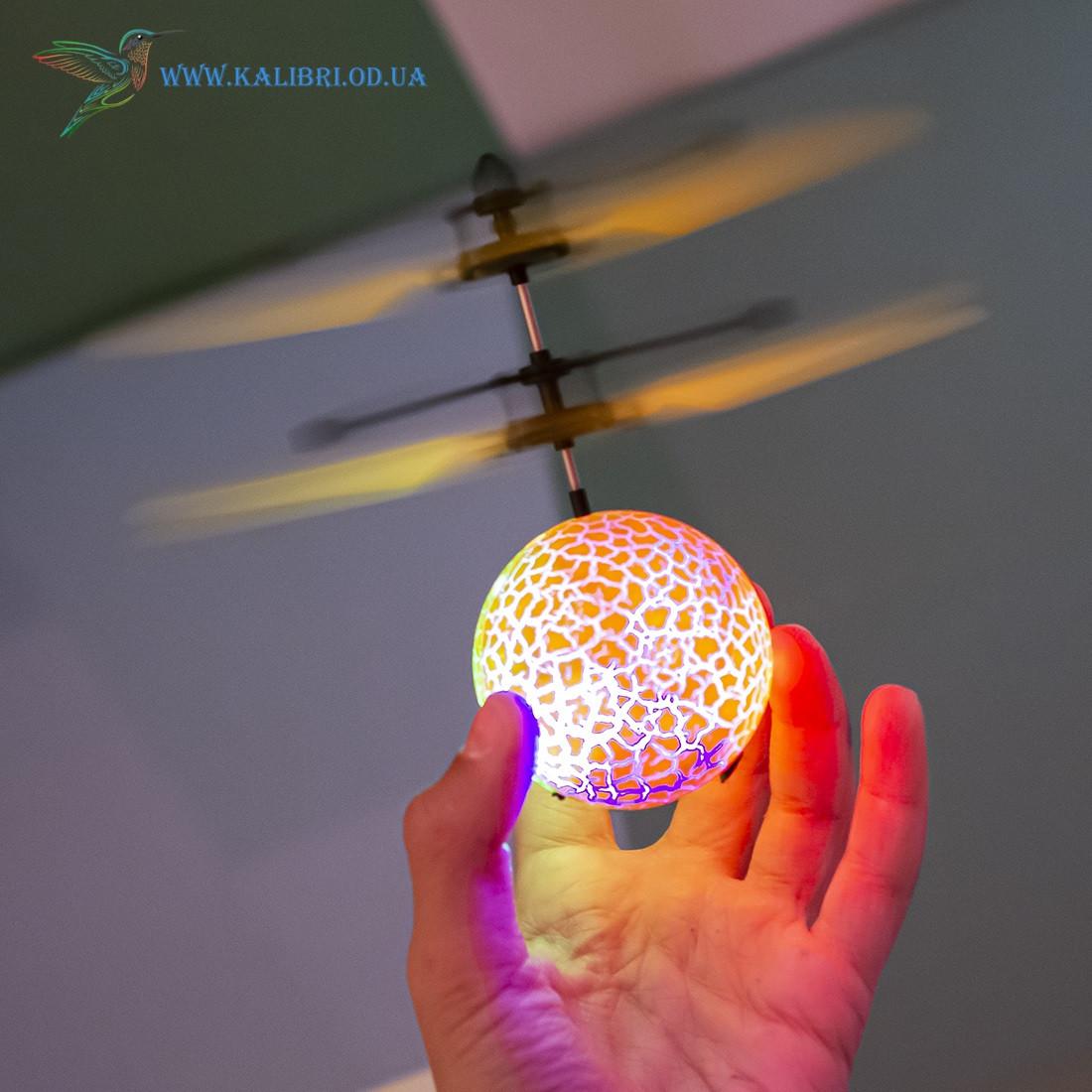 """Летающий, светящийся шар, мяч """"Flying Ball"""" JM-888 желтый"""