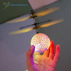 """Літаючий, світна куля, м'яч """"Flying Ball"""" JM-888 жовтий"""