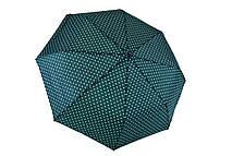 Зонт жіночий напівавтомат, поліестер/карбон, зелений Арт.1635 Grimaldi (Китай)