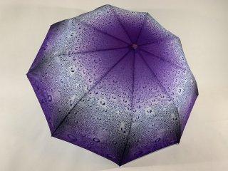 Зонт жіночий, фіолетово-білий, напівавтомат, поліестер/карбон Арт.629 Mario (Китай)