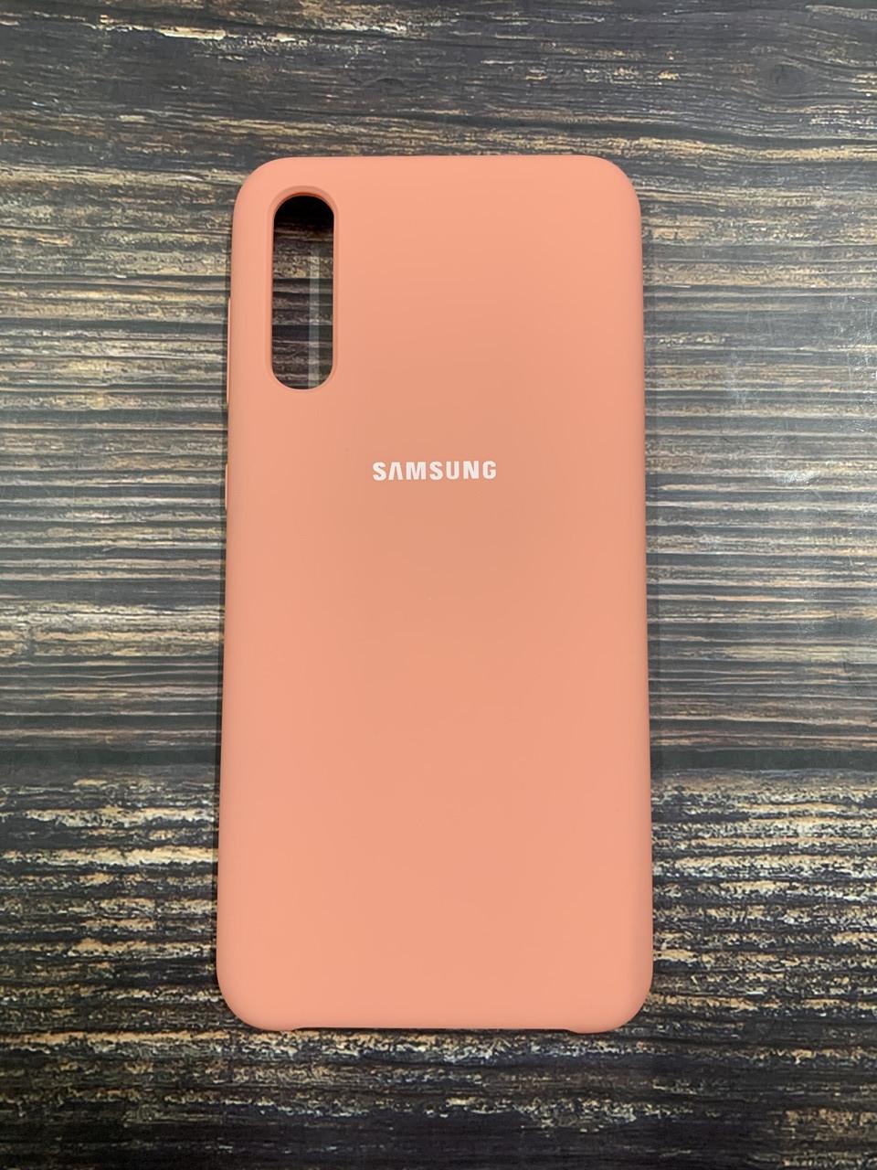 """Чехол Silicon Samsung A30S - """"Нежно-розовый №12"""""""