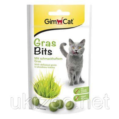 Лакомство для кошек GimCat Gras Bits 40 г (трава)417653/417271