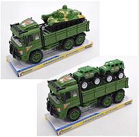 Треллер інерц. в слюді Військовий + машинка, танк 29см 1522-1-2