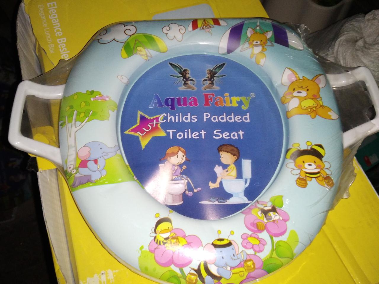 Накладка вставка детская сиденье для унитаза мягкая Украина Aqua Fairy с ручками пчелки