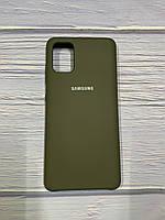 """Чехол Silicon Samsung A51 - """"Темная олива №34"""""""