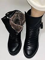 Mario Muzi.Турция,Зимние ботинки натуральный мех, натуральная кожа Р.38, фото 4