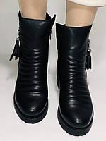 Mario Muzi.Турция,Зимние ботинки натуральный мех, натуральная кожа Р.38, фото 10