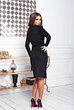 Платье женское нарядное замшевое мокко, бежевый, молоко, черный, бутылка, красный 42-44, 46-48, фото 5