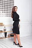 Платье женское нарядное замшевое мокко, бежевый, молоко, черный, бутылка, красный 42-44, 46-48, фото 3