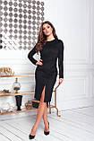 Платье женское нарядное замшевое мокко, бежевый, молоко, черный, бутылка, красный 42-44, 46-48, фото 4