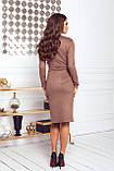 Платье женское нарядное замшевое мокко, бежевый, молоко, черный, бутылка, красный 42-44, 46-48, фото 6