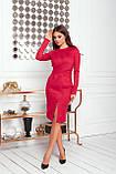 Платье женское нарядное замшевое мокко, бежевый, молоко, черный, бутылка, красный 42-44, 46-48, фото 8