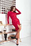 Платье женское нарядное замшевое мокко, бежевый, молоко, черный, бутылка, красный 42-44, 46-48, фото 7